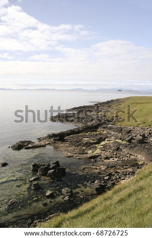 Cliffs, Isle of Sky, Scotland - stock photo