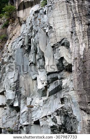 Cliffs of Arndad - Aosta Valley - stock photo