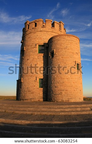Cliffs of Moher - O'Briens Tower - stock photo
