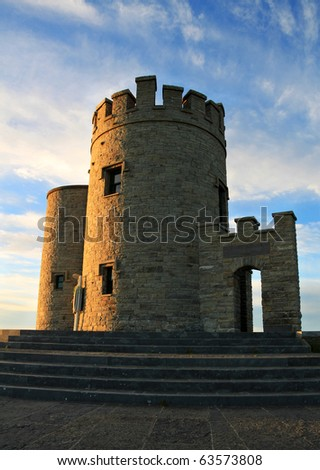 Cliffs of Moher - O'Briens Tower, Ireland - stock photo