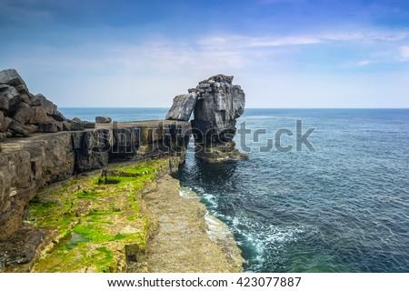 Cliffs of the Portland island in Dorset, UK - stock photo