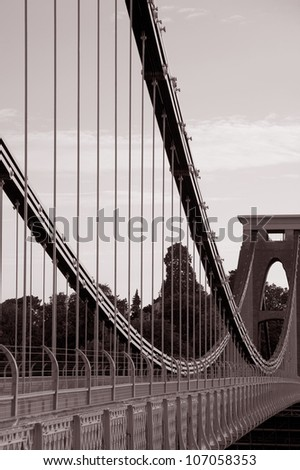Clifton Suspension Bridge by Brunel in Bristol, England - stock photo