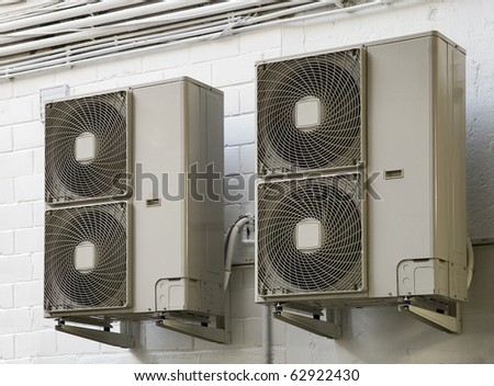 climatiseur air conditioner - stock photo