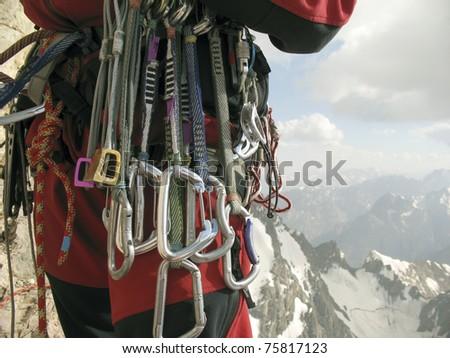 Climbing. - stock photo