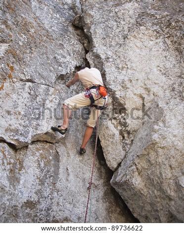 Climbing - stock photo