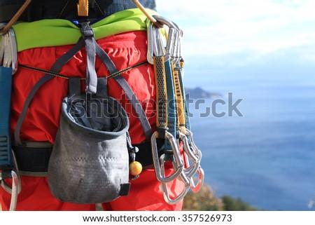 Climbing Equipment - stock photo