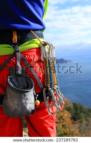 climbing gear - stock photo