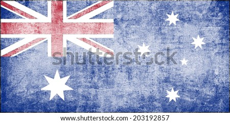 Clip Art Grudge Looking National Flag Of Australia - stock photo