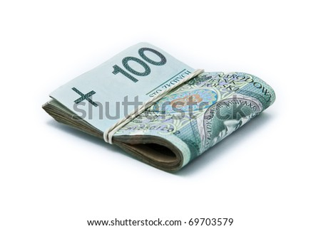 Clip of banknotes - stock photo