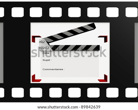 clipboard  in a video film - stock photo