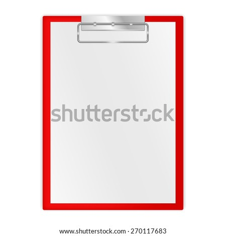 Clipboard. Isolated on white background. Raster version - stock photo