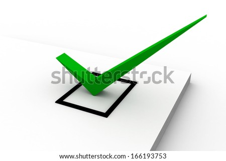 Clipboard with check box and pen. - stock photo