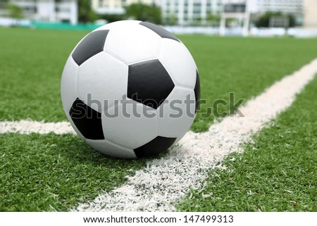 Cliping path include. Association football, commonly known as football or soccer, is a sport played between two teams of typically eleven players, the game was played in over 200 countries - stock photo