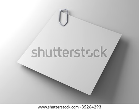 Clipped Paper	Note		 - stock photo
