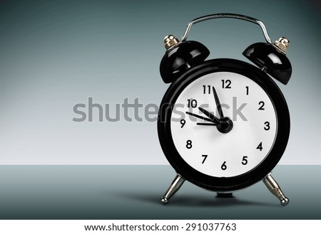 Clock, Alarm Clock, Retro Revival. - stock photo