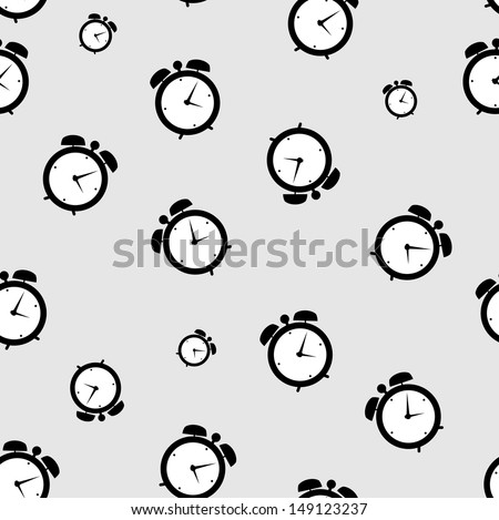 clock alarm icon  illustration seamless pattern backgroumd - stock photo