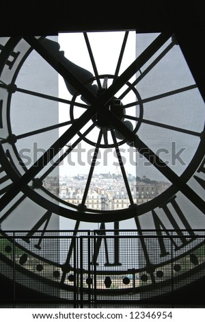 Clock at Musee d'Orsay, Paris - stock photo