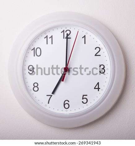 clock at 7 o'clock - stock photo