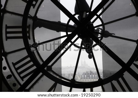 clock at the orsay museum - stock photo