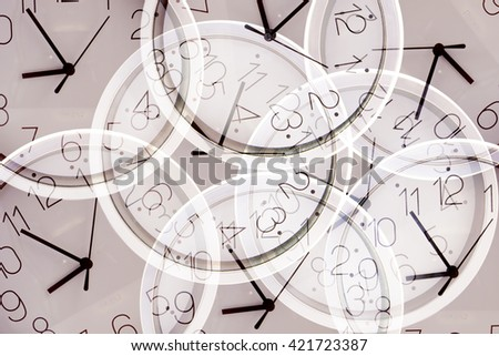 Clock Background - stock photo