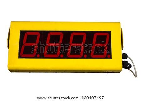 Clock Digital park countdown - stock photo