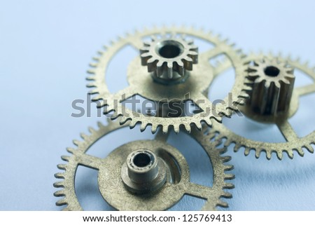 clock gear concepts - stock photo