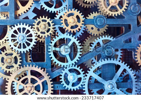 Clock gear set  - stock photo