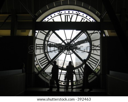 Clock in Musee D'Orsay, Paris, France. - stock photo