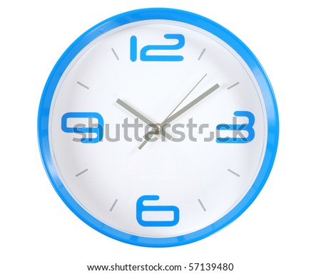 Clock. Isolated - stock photo