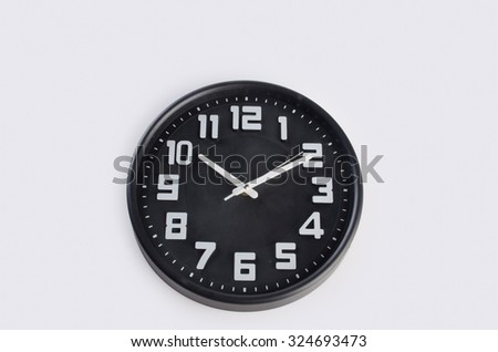 clock or wall clock . wall clock on a background - stock photo