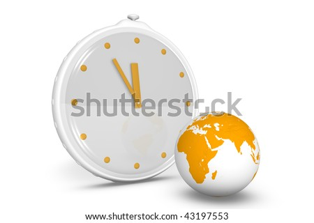 Clock showing the passing time - stock photo