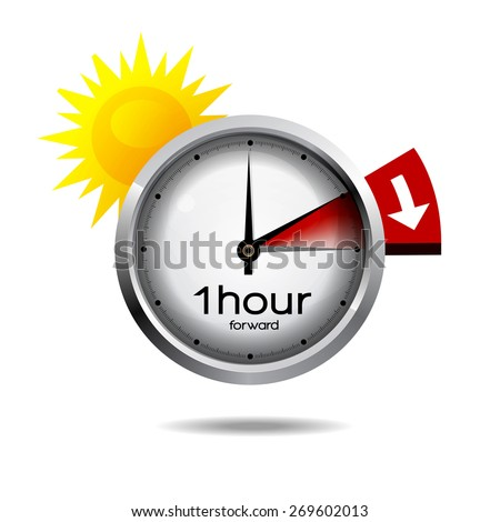 Clock switch to summer time  - stock photo