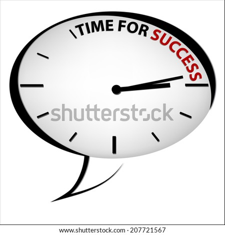 "Clock ""Time for success"" - stock photo"