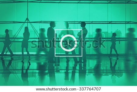 Clock Time Timer Hour Minute Concept - stock photo