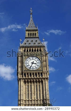 Clock tower. Big Ben clock. London attraction - stock photo