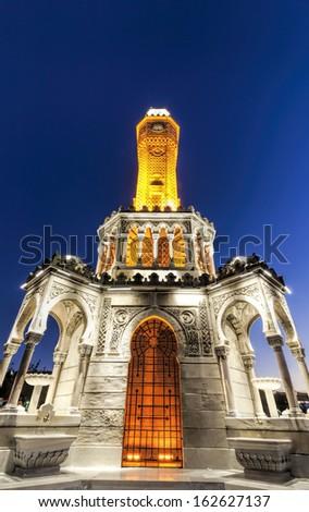 Clock Tower of Izmir, Turkey - stock photo