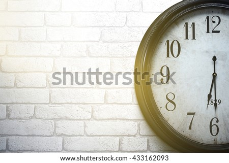 Clock,wall clock isolated on the white background - stock photo