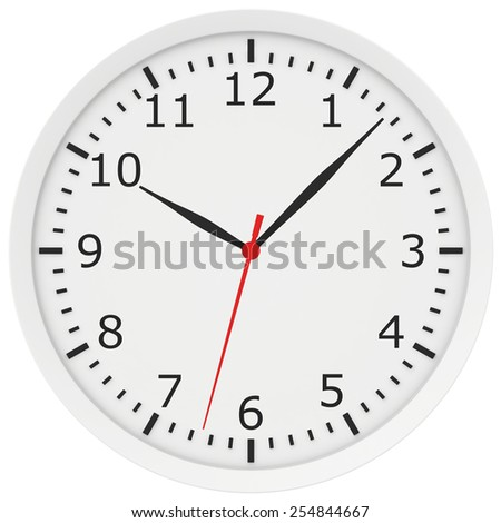 clock with arrows and numbers. 3d rendering - stock photo