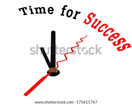 clock with words Time for Success - stock photo