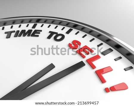 Clock with words time to sell on its face - stock photo