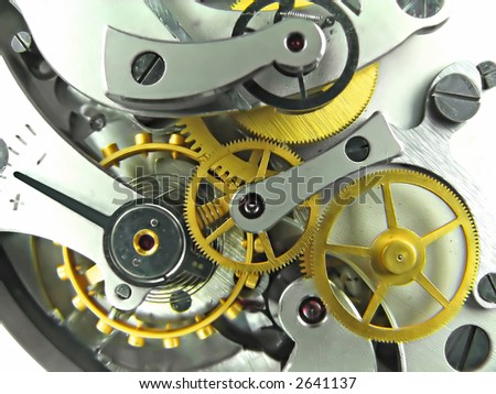 Clock works - stock photo