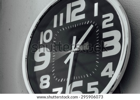 clockwise motion In a hurry,monochrome - stock photo