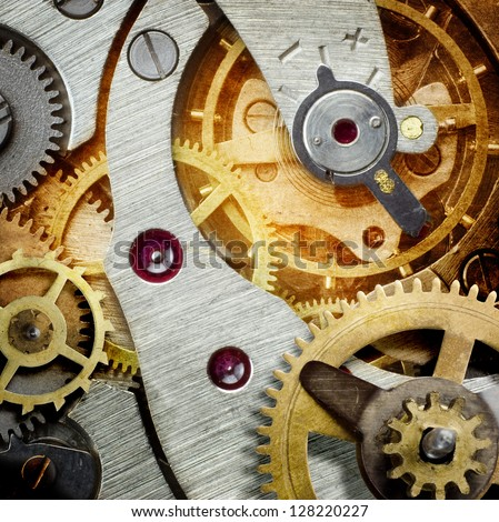 clockwork  background - stock photo