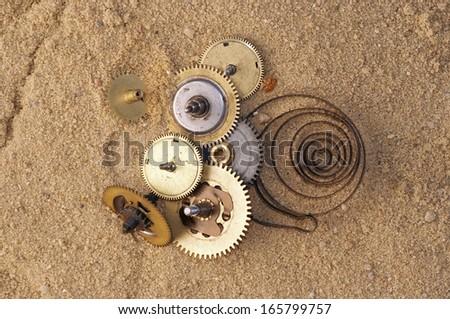 clockwork mechanism - stock photo
