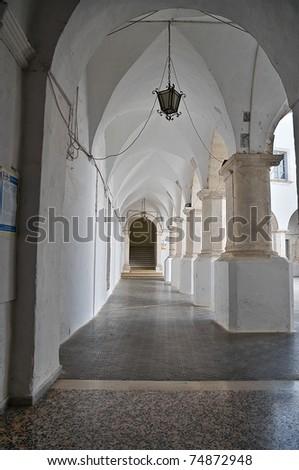Cloister of St. Domenico Church. Martina Franca. Apulia. - stock photo