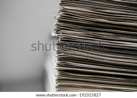 Clooseup of newspapers - stock photo