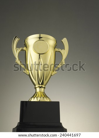 close of the golden trophy - stock photo