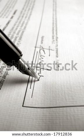 Close up a business agreement - stock photo