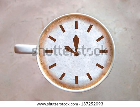 Close up A Cup of Coffee (Coffee Time) - stock photo