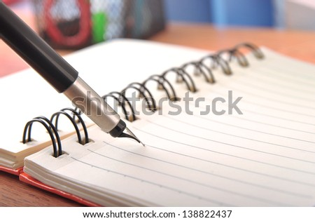 Close-up a pen and write  - stock photo